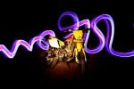 Light painting I Viikon moottoripyöräkuva
