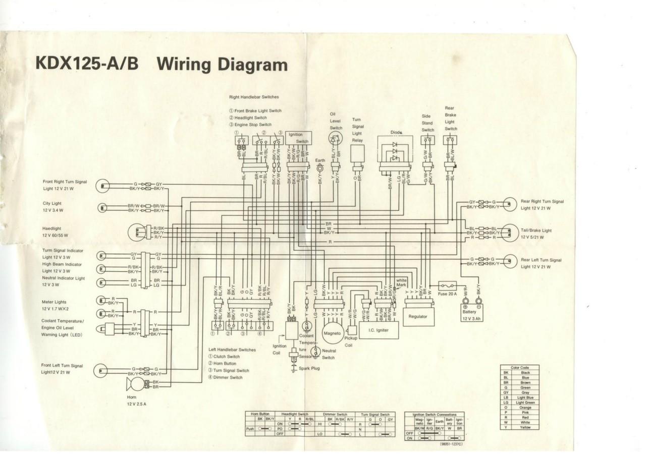 Kdx 125 Wiring Diagram And Schematics 200 Kdx1991 Help Kawasaki 2 Stroke Thumpertalk Source S Hk Kaavio